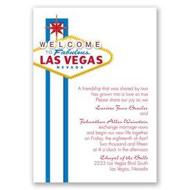 Fabulous Vegas - Blue - Invitation