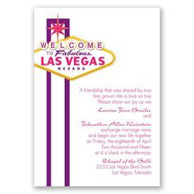 Fabulous Vegas - Grapevine - Invitation