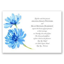 Watercolor Peony - Blue - Invitation