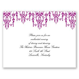 Chandelier Chic - Amethyst - Reception Card