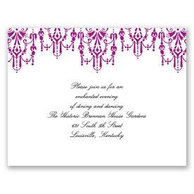 Chandelier Chic - Amethyst - Reception Card