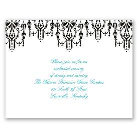 Chandelier Chic - Ebony - Reception Card