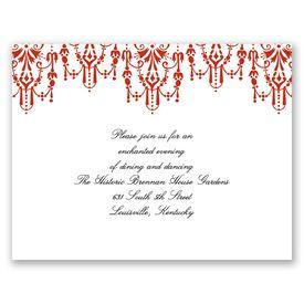 Chandelier Chic - Scarlet - Reception Card