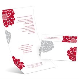 Pop of Floral - Barn Red - Seal and Send Invitation