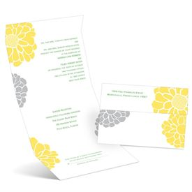 Pop of Floral - Canary - Seal and Send Invitation