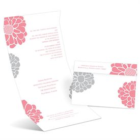Pop of Floral - Petal - Seal and Send Invitation