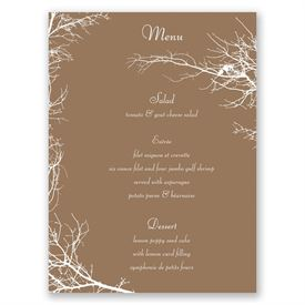 Boughs and Branches - Menu Card