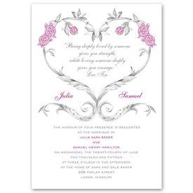 Wedding Invitations: Fairy Tale Roses  Invitation