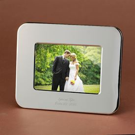 Horizontal Silver-Plated Photo Frame