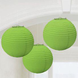 Kiwi Green Paper Lanterns