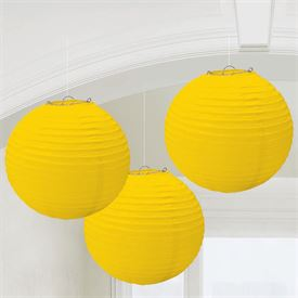 Yellow Paper Lanterns