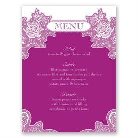 Romantic Details - Menu Card
