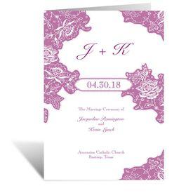 Wedding Programs: Romantic Details  Wedding Program