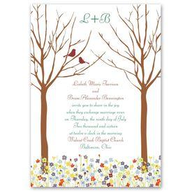 Bird Wedding Invitations: Love Springs  Invitation