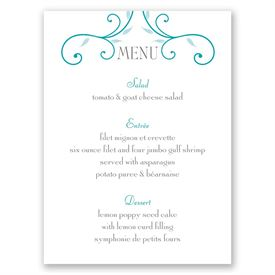 Budding Beauty - Menu Card