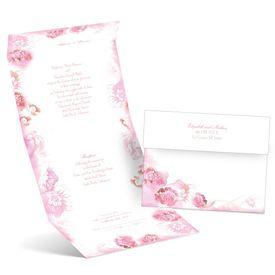 Watercolor Blooms - Fuchsia - Seal and Send Invitation