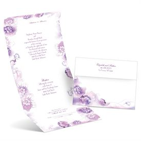 Watercolor Blooms - Grapevine - Seal and Send Invitation