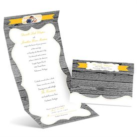 Brown Wedding Invitations: 