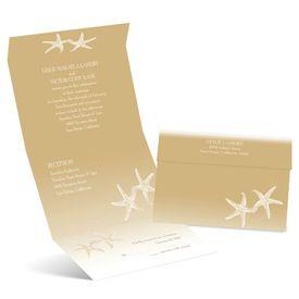 Sweet Starfish - Latte - Seal and Send Invitation
