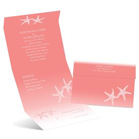 Sweet Starfish - Petal - Seal and Send Invitation