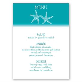 Sweet Starfish - Menu Card