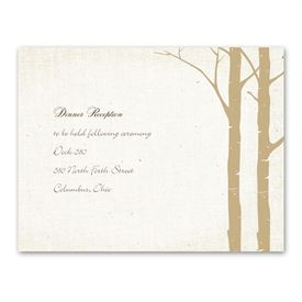 Secret Spot - Champagne - Reception Card