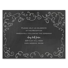 Chalkboard Love Story - Reception Card