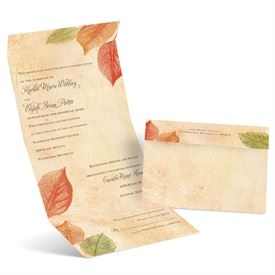 Aspen Leaves - Seal and Send Invitation