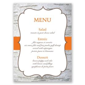 Birch Wood Crest - Menu Card