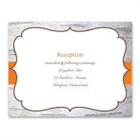 Birch Wood Crest - Reception Card
