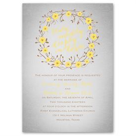 Yellow Wedding Invitations: 