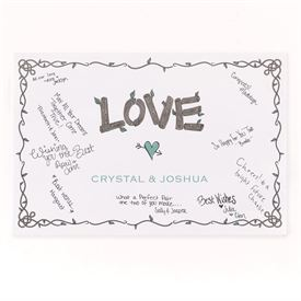 Wedding Guest Books and Pen Sets: Rustic Love Signature Poster