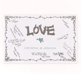 Rustic Love Signature Poster