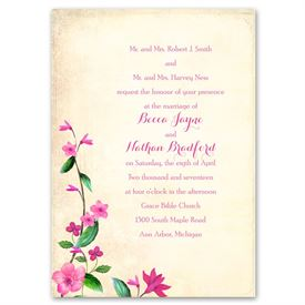 Vintage Vines - Lipstick - Invitation