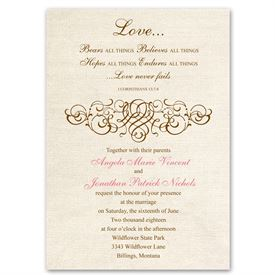 Christian Wedding Invitations Rustic Love Invitation