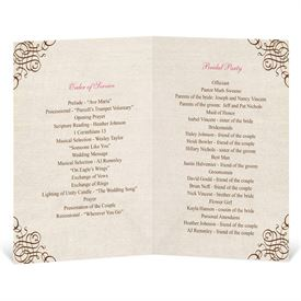 Rustic Love - Wedding Program