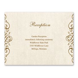 wedding reception cards rustic love reception card - Wedding Reception Invites