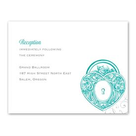 Love Unlocked - Reception Card
