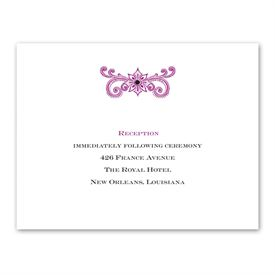 Masquerade - Reception Card