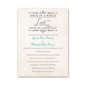 Petite Wedding Collection: Charmed  Petite Invitation