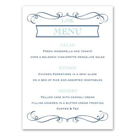 Exhilarating - Menu Card