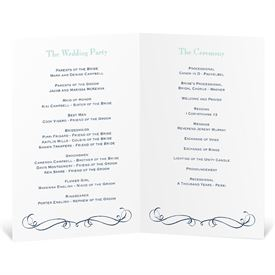 Exhilarating - Wedding Program