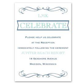 Exhilarating - Reception Card