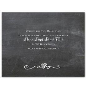 Love Never Fails - Reception Card