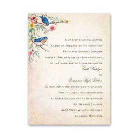 Petite Wedding Collection: Bluebird Melody  Petite Invitation
