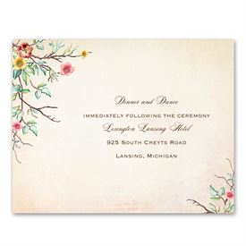 Bluebird Melody - Reception Card