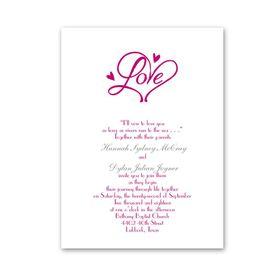 Pure Love - Petite Invitation