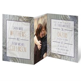 Fall Wedding Invitations: Tree Rings  Photo Invitation