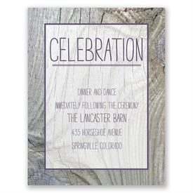 Tree Rings - Reception Card