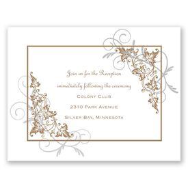 Filigree Leaves - Reception Card